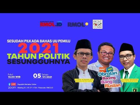 Obrolan Bareng Bang Ruslan • 2021 Tahun Politik Sesungguhnya