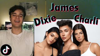 """reacting to """"James Charles Turns us into Triplets!  ft. Charli D'Amelio  