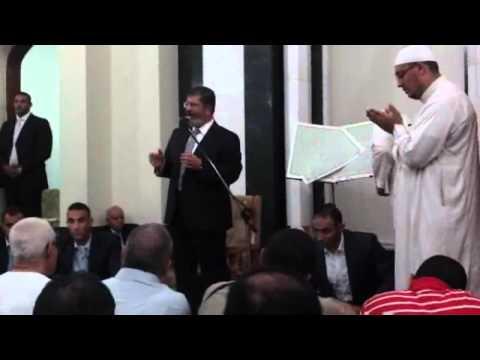 كلمة الرئيس مرسي فى صلاة التراويح لأول ليلة من رمضان