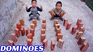 Trò Chơi Hiêu Ứng Dominoes Kì Diệu - Bé Nhím TV - Đồ Chơi Trẻ Em Thiếu Nhi