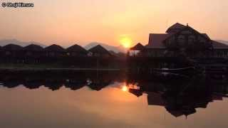 preview picture of video 'ミャンマー インレー湖 Golden Island Cottages Thale U Hotel周辺 Myanmar Inle Lake Rowing boat'