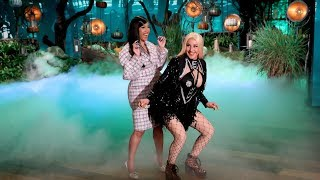 "For Halloween, Ellen transformed into ""Cardi E"",  inspired by Cardi B's character in the movie ""Hustlers,"" and she got a special visit from the rapper herself!  #CardiB #TheEllenShow #Ellen"