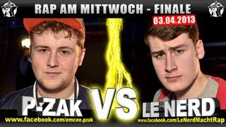 RAP AM MITTWOCH   P Zak Vs Le Nerd 03.04.13 BattleMania Finale (45) GERMAN BATTLE