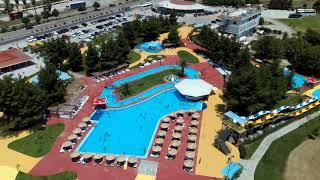 Тест квадрокоптера. Аквапарк Splash Waterpark Isthimnos c квадрокоптера Hubsan Zino