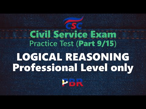 Civil Service Exam - Logical Reasoning: Professional Level only ...