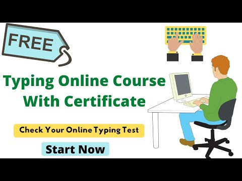 Free Online Typing Test Course With Certificate - YouTube