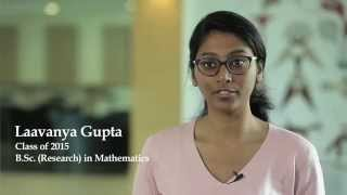 """SNU has been a journey to explore myself,""- Laavanya Gupta, ‪B.Sc. (Research) in Mathematics"