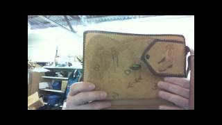 Vintage Western Leather Purse - Tooled Leather