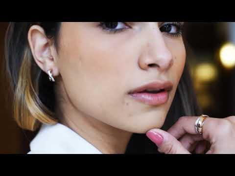 Anillo Breuning colección Órbita con diamantes en oro blanco y rosa 18k