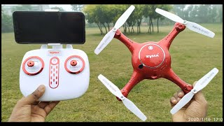RC camera Drone Transmitter or APP control WiFi FPV 720P HD Camera Drone Unboxing & Testing