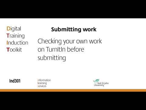 Download Ind301 Checking your own work on Turnitin before submitting Mp4 HD Video and MP3
