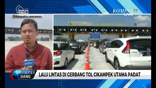 Hari Kedua Lebaran, Lalu Lintas di Gerbang Tol Cikampek Utama Padat Didominasi Kendaraan Pribadi