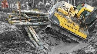 Excavator stuck in deep clay - Heavy Recovery - Terribärgarn - Sweden