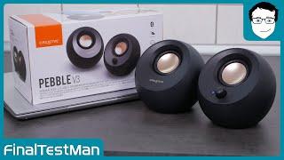 Creative Pebble V3 im Test - USB-C Lautsprecher fürs Homeoffice! | FinalTestMan