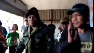 ทหาร ไปตบเด็ก และประชาชน ฉลองปีใหม่