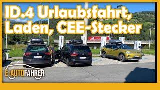 VW ID.4 - Urlaubsfahrt und Campingplatz als Ladestation