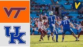 Virginia Tech Vs Kentucky Highlights   2019 Belk Bowl Highlights   College Football