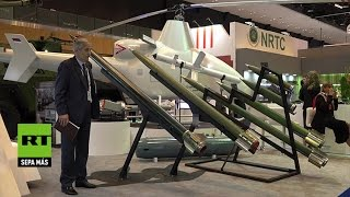 Un helicóptero no tripulado invisible para los radares se muestra en IDEX-2017