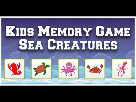 Kids Memory Game - Sea Creatures - Kids Games - Unity 3D