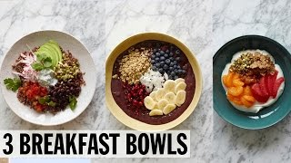 3 Healthy Breakfast Bowls | Food Network