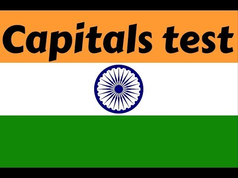 Indian state capitals - Full test