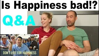 """Should you live for happiness?  We answer a question from """"We The Kims"""" in our Couple's Q&A"""