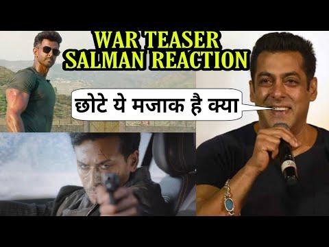 Salman khan Reaction on War Teaser, Hrithik Roshan Tiger shroff का Action देख जले Salman khan