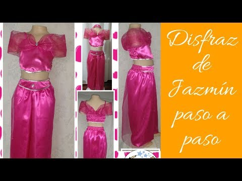 DIY. Como hacer disfraz Jazmín de Aladino para niña. 1era parte: como hacer el pantalón paso a paso.