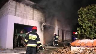 Pożar garażu w Żeglcach