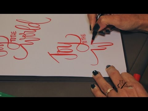TUTORIAL: Caligrafia, como dibujar sus palabras.