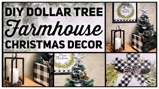 Dollar Tree DIY Farmhouse Christmas Decor Ideas 2019 - Black & White Buffalo Check - Simple Crafts