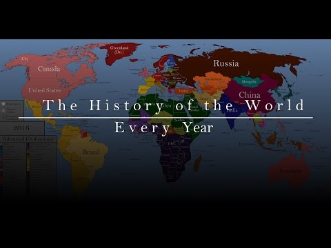A timeline map of the 200,000 year history of human civilization