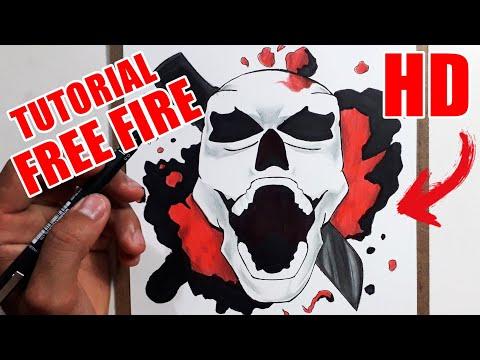 Como Desenhar O Rei Caveira Do Free Fire Passo A Passo