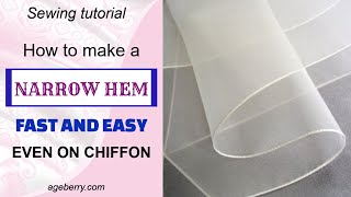 Sewing Hacks - How To Easily Make A Narrow Hem On Lightweight Fabric With A Ban Roll