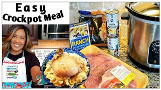 Super Easy 3 Ingredient Crockpot Meal | Ranch Pork Chops | Budget Friendly & Delicious