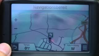 preview picture of video 'Test GPS Zumo 590 LM Funktionen Tracknavigation abseits der Straße'