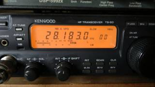 preview picture of video 'XE1RCS Ham Radio Beacon (Cerro Gordo, 70 km NE Mexico City, Mexico, 8 watts) - 28183 kHz (CW)'