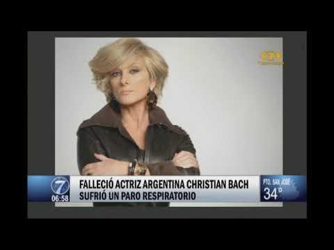 Fallecio la actriz argentina Christian Bach
