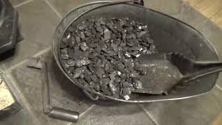 How I work a hand fired anthracite coal stove.