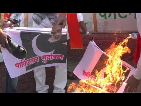 पाकिस्तानचा झेंडा जाळला गांधी चौकात