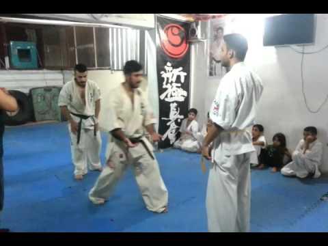 اختبار الحزام البني رضا جاسم شن كيوكوشنكاي   3/3 brown belt test Riadh Jasim shinkyokushinkai Iraq