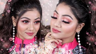 💖VALENTINE'S DAY MAKEUP TUTORIAL 2019 💖 Romantic Pink Date Night Makeup Look | LINDA