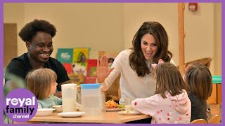 Duchess Of Cambridge Serves Breakfast To Nursery Children
