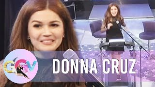 "GGV: Donna Cruz sings ""Habang May Buhay"" on the treadmill"
