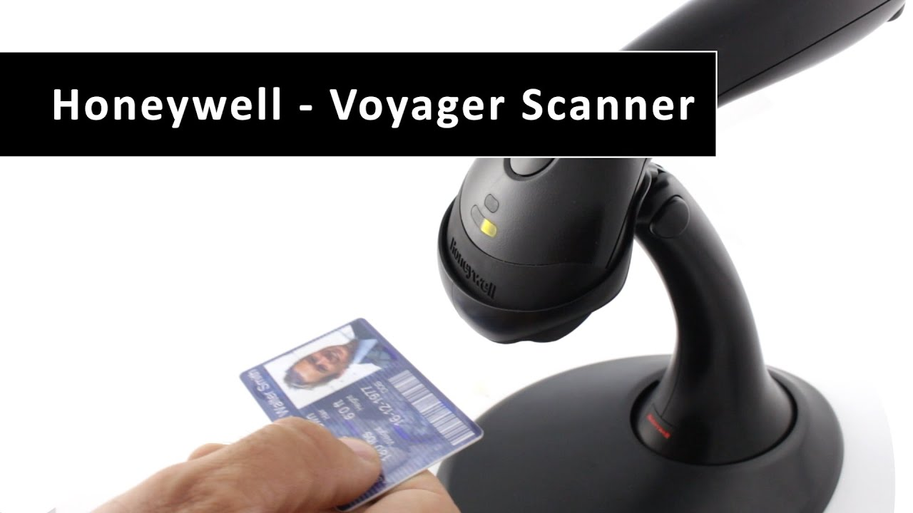 Honeywell Barcode Reader Voyager, Black, Scanner, USB, With Stand