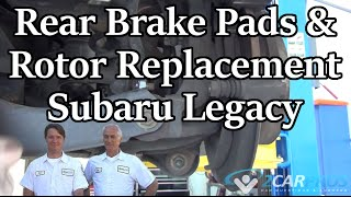 Replace Rear Brake Pad-Rotor Subaru Legacy