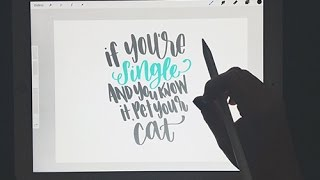 iPad Pro & Apple Pencil Handlettering Review