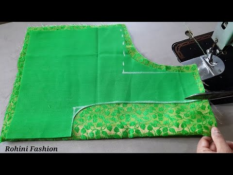 Very simple and easy designer blouse design|cutting and stitching back neck