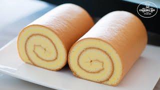 How to make swiss roll cake / Basic roll cake Recipe / Easy roll cake