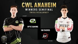 Optic Gaming vs 100 Thieves | CWL Anaheim 2019 | Winners Semifinal